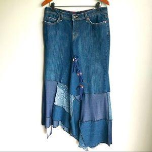 Skirts - Denim Skirt and Mesh Loose Fit Cardigan, EUC